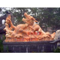 多红雕塑石雕龙十二生肖龙晚霞红龙别墅酒店庭院广场小区家具摆件