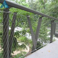 多股装饰楼梯用不锈钢绳网 鸟语林围网 不锈钢绳网网兜