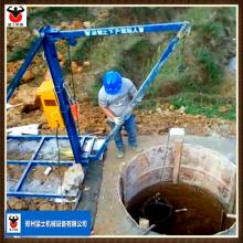 猛士人工挖孔挖桩用小型吊机 哈儿机 加厚铁桶 限位器防触顶 厂家直销