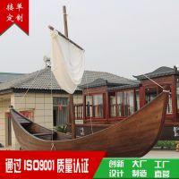 小木船 欧式小帆船 手划船 装饰木船 两头尖木船 可定制 观光船