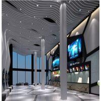 手机实体店形象设计弧形铝方通定制,热门造形铝方通工艺厂家