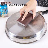 日本NISHIKI金刚砂海绵擦不锈钢磨砂去污海绵可磨刀刷锅海绵擦