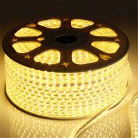 厂家直销LED灯带灯条 5050高压220VLED灯带 一米60灯单晶三晶5050贴片灯条