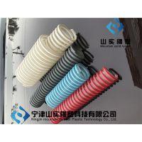 山实供应pu蓝色塑筋管 彩色螺旋筋软管 塑筋加强pu软管 tpu弹性体输料管