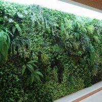 定制仿真墙植物背景墙 仿真绿植墙植物墙 装饰假绿植墙面批发花墙室内外装饰园林景观