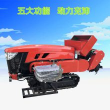 郑州热销四驱柴油微耕机 低矮大棚除草松土机 小型轻便手扶微耕机