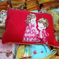 跑江湖地摊十元模式枕套 精品外贸纯棉枕套10元2个 包金边床上用品沙缇
