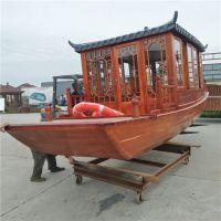 2018景区旅游项目开发用船 仿古木质画舫船 机动木质游览船生产厂家哪里有