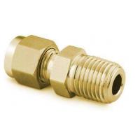 螺纹1/2NPT黄铜直通接头价格 上海疆南阀门管件1/2寸生产变径转换接头