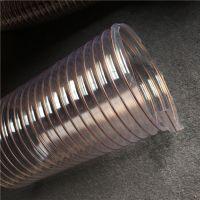 25-500耐高温pu钢丝软管塑料波纹伸缩通风管