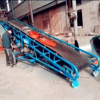 装车用可升降输送机 兴运PVC带式伸缩输送机