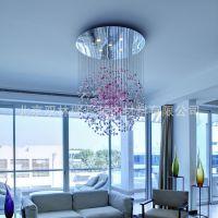 北京副中心供应手工吹制彩色玻璃泡泡吊线LED灯 适用于展厅 客厅 楼梯 餐厅 酒店大厅