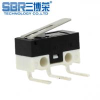 SBR高寿命鼠标微动开关 左右弯脚带压柄 中/小微动 环保