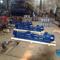 不锈钢污泥螺杆泵厂家直销 G50-1 5.5KW 单螺杆转子泵 常州众度泵业
