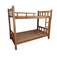 厂家直销实木高低床 1米员工宿舍实木双层床 原木色松木上下床