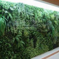 热带雨林仿真植物图案墙 仿真绿色植物大叶子墙 可定制