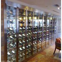 不锈钢恒温酒柜 欧式酒柜 洋酒架 隔断酒柜 客厅酒架定制