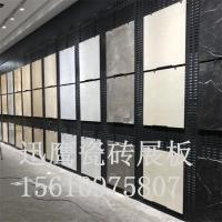 瓷砖冲孔板挂钩展板 铁板金属货架怎么卖 西安市大理石长方孔样品展示架