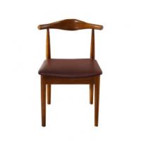 北欧实木牛角椅饭店餐椅酒店餐厅家具肯德基奶茶店休闲椅子