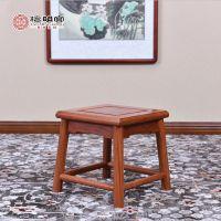 檀明宫红木家具 明式紫檀小方凳 儿童凳换鞋凳中式 实木 矮凳