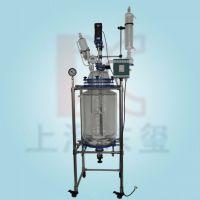 上海东玺双层玻璃反应釜S212-100L北玻高硼硅(GG17)