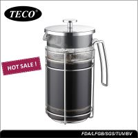 厂家批发1000ml耐高温法压壶 高硼玻璃咖啡壶 304材质过滤装置