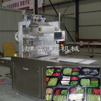 凯旭供应锡箔纸食品盒式真空包装设备 盒式蔬菜锁鲜包装机