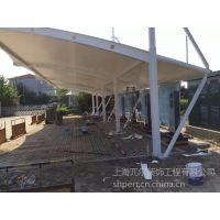 【上海兀尔】厂家供应 钢结构拉膜车棚 汽车棚 自行车停车棚设计安装