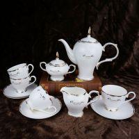 促销15头陶瓷咖啡具套装 欧式骨瓷茶具 花茶咖啡杯碟套装
