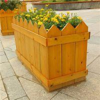 花箱 防腐木塑木组合花箱 定制园林 绿化花箱