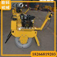 小型振动双轮压道机 单轮柴油压路机 回填土震动压实机