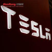 特斯拉4S店车标 户外亚克力招牌 ABS电镀车标 厂家质保五年