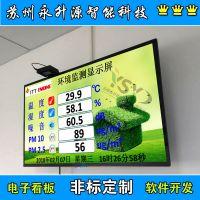苏州永升源厂家定制液晶显示屏环境监测屏 噪音屏 液晶屏显示PM2.5PM10实时采集 温湿度屏