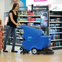 安康商场停车场用手推式容恩洗地机R50B 车站机场用全自动地面清洗机