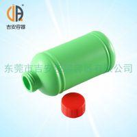 HDPE绿色高身600g圆瓶 600ml包装塑料瓶 600毫升化工液体瓶 厂家直销