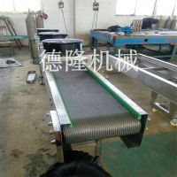 食品级网带输送机 不锈钢网带输送厂家德隆厂家制作