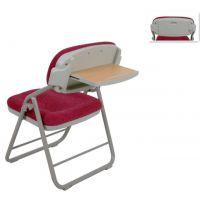 高档出口折叠椅后置写字板会议椅网布培训椅教会椅厂家教堂椅