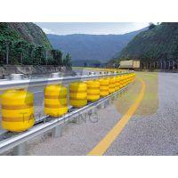 青岛泰诚厂家直营公路旋转护栏、高速公路旋转式防撞桶、滚筒式旋转护栏、滚筒式旋转护栏