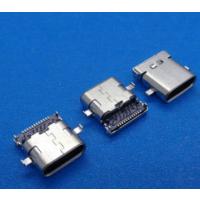 usb 3.1 type-c母座 24p沉板SMT+DIP 四脚插板 中间定位H2.0