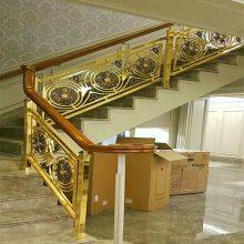 居家铝雕花楼梯护栏装饰 经济型别墅艺术楼梯栏杆厂家设计