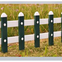 公园美化 花草围栏湖北篱笆 小区美景 栅栏