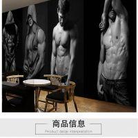 专供3D俱乐部运动背景壁画 舞蹈健身房瑜伽馆壁纸 酒吧包间海报墙纸墙布 深圳墙纸厂家直销