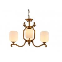 新中式吊灯全铜吊灯简约大气客厅卧室餐厅别墅灯具仿云石酒店吊灯