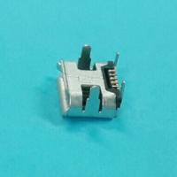MICRO 5P牛角插板脚长2.0(7.2X4.85)母座有柱0.3 插座 四脚