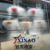 供应鑫奥离心雾化盘喷雾风扇 工业扇改造水雾器 不锈钢降温加湿电风扇