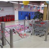 远韬智能超市圆柱摆闸 单向红外自动感应门十大品牌
