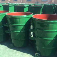 献县鑫建供应300L铁制垃圾桶 240l垃圾桶 铁质圆桶方桶 户外垃圾桶 厂家批发