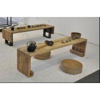 重庆宏森瑞林中式实木圆餐桌椅组合现代简约大理石转盘白蜡木餐厅餐桌家具