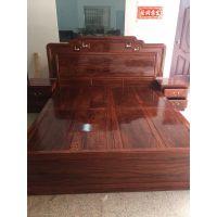 刺猬紫檀国标红木国色天香大床厂家批发价格