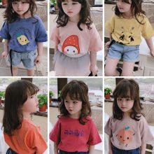 间条儿童T恤 夏季新款童装 条纹童装短袖 特价热销儿童短袖